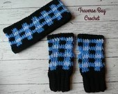 Crochet Plaid fingerless ...
