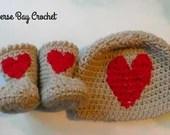 Newborn Baby Heart Hat Bo...