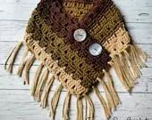 Simply Devine crochet neck warmer fringe scarf pattern PDF instant download present gift craft shows MI designer
