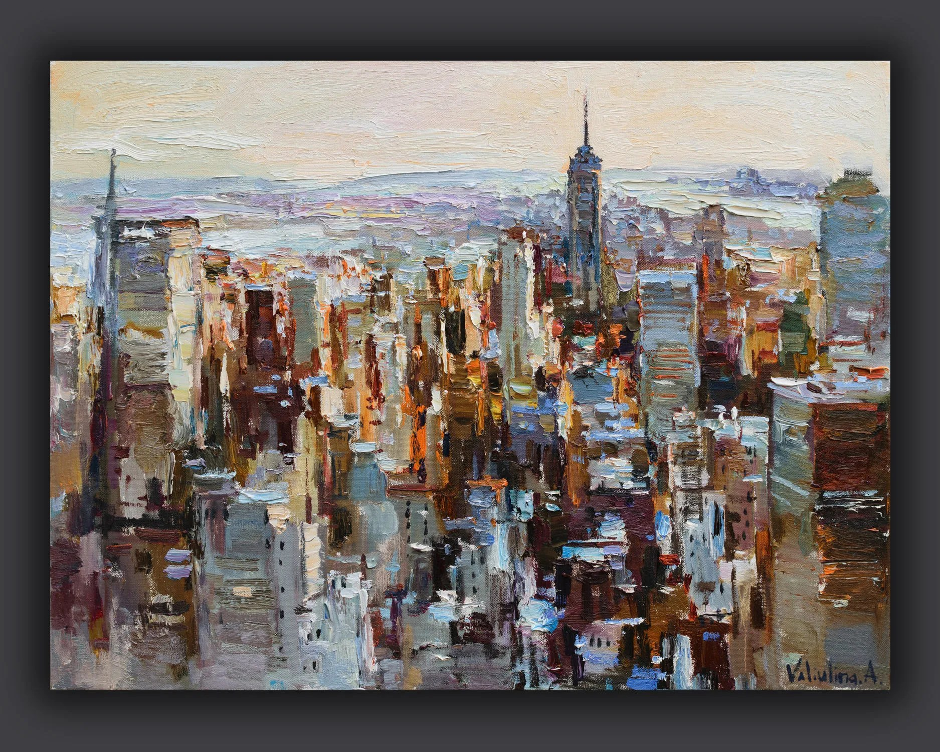 New york painting   Etsy New York City skyline Cityscape painting Sunrise oil painting NYC Morning  landscape New York painting Urban canvas art