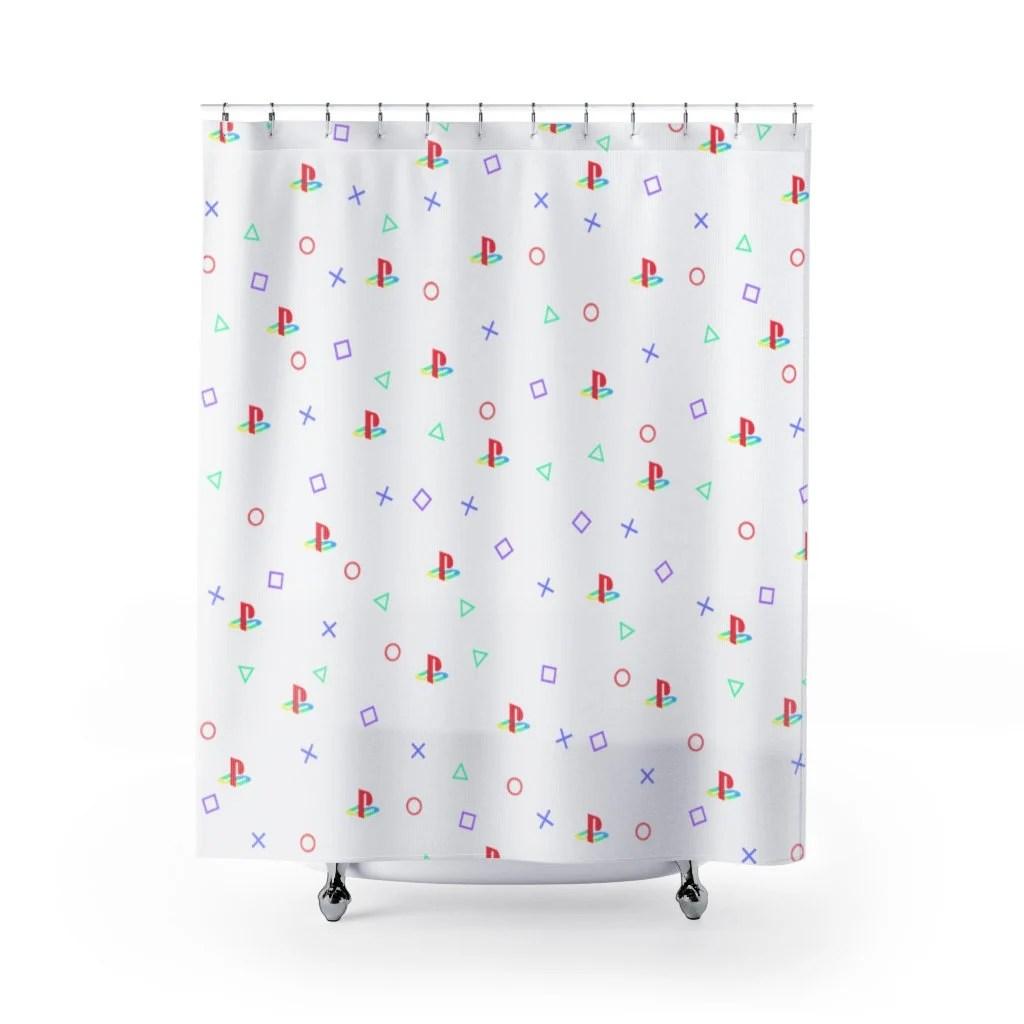 gamer shower curtain etsy