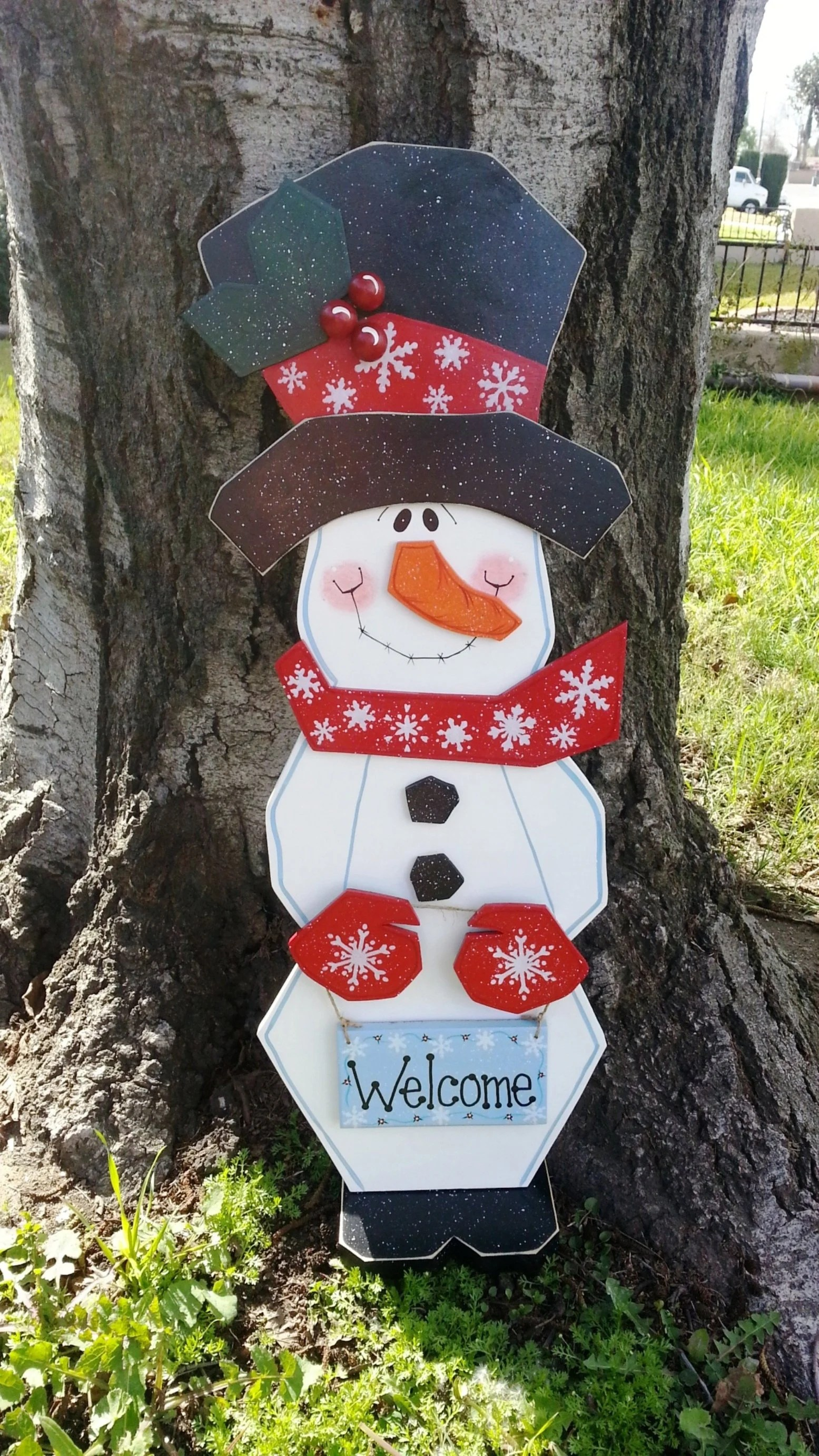 Do you have cutie garden app problems? Winter or Christmas Snowman Porch Sitter Indoor or Outdoor