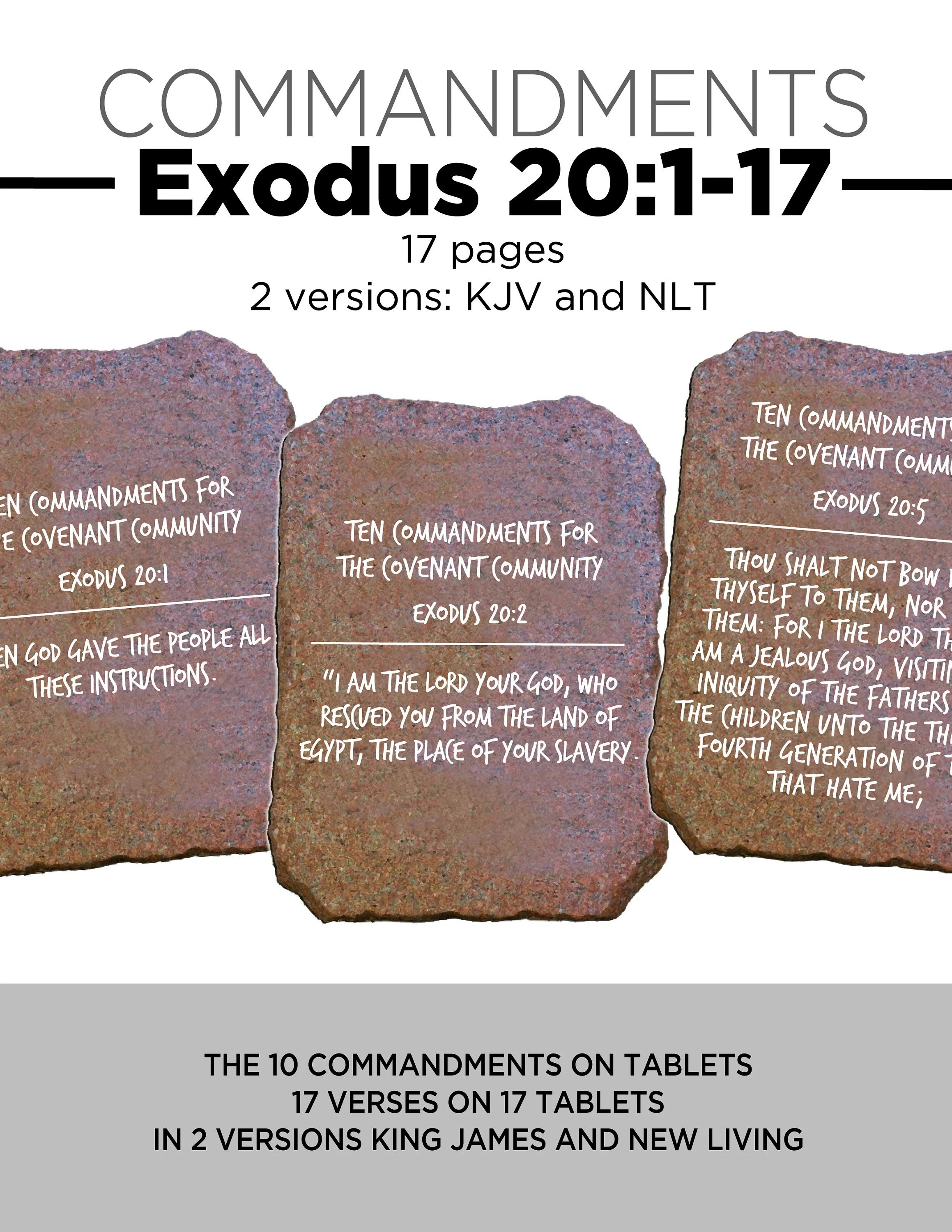 10 Commandments On Tablets For Cycle 1