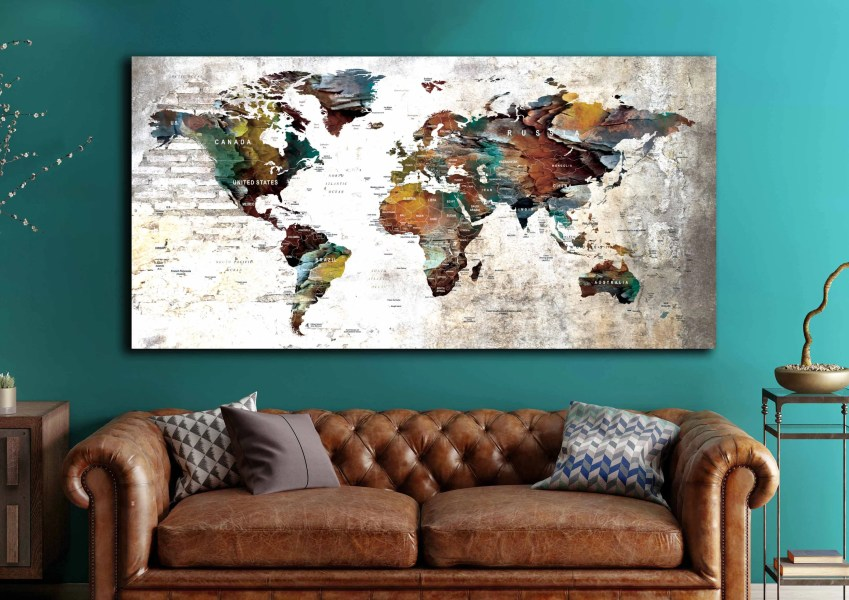 Large World Map Art World Map World Map Wall Art World Map Canvas     Large World Map Art World Map World Map Wall Art World Map Canvas World Map  Push Pin Push Pin Map Art Canvas Print Travel Map Canvas