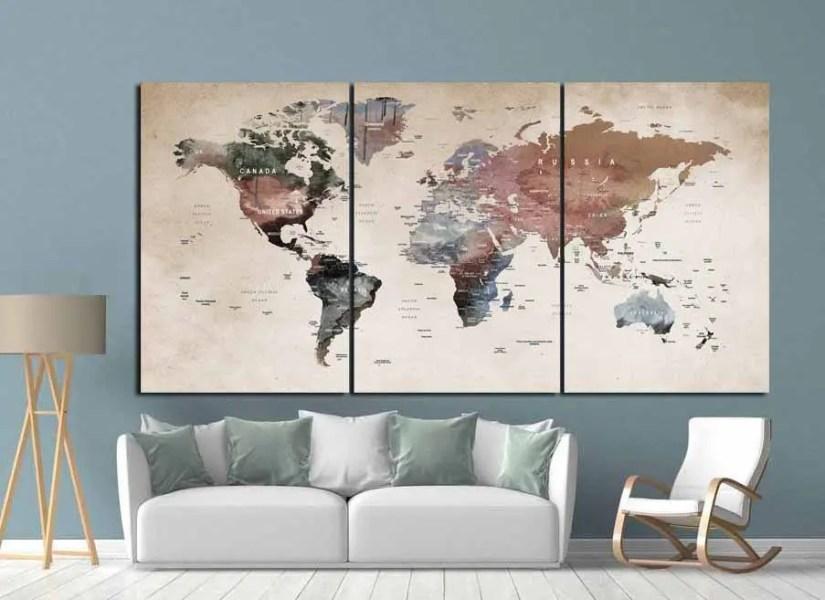 Wall world map path decorations pictures full path decoration world map wall art affordable map wall murals posters for sale at allposters com world map wallpaper mural world map stencil reusable wall stencil instead gumiabroncs Gallery