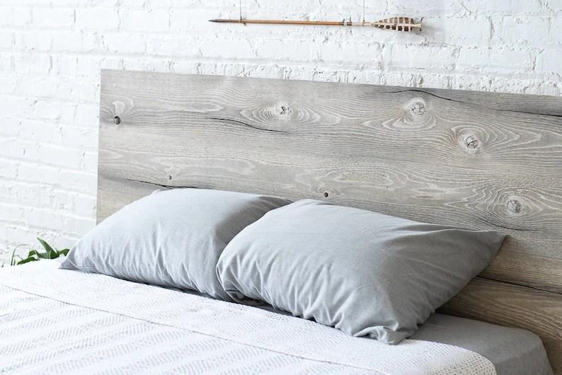 Rustic Modern Platform Bed Frame and Headboard Boho Loft ... on Modern Boho Bed Frame  id=90115