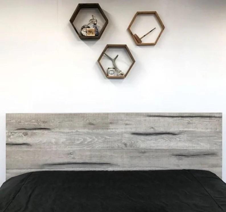 Rustic Modern Platform Bed Frame and Headboard Boho Loft ... on Modern Boho Bed Frame  id=54011