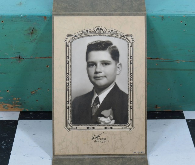 1940s Silver Gelatin Photograph Of A Young Man Griffiths Studio East Los Angeles California Original Vintage Art Deco Mounting