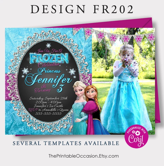 editable frozen birthday invitations