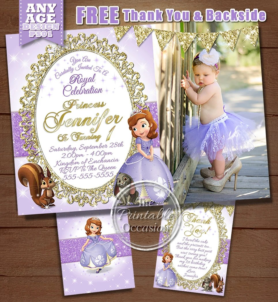 same day svc sofia the first birthday