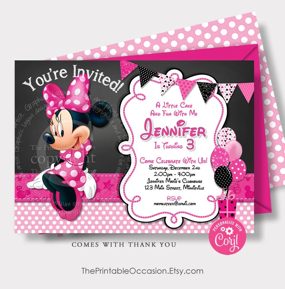 editable minnie mouse birthday