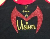 I have a Vision inspired by WandaVision Female & Unisex tank available