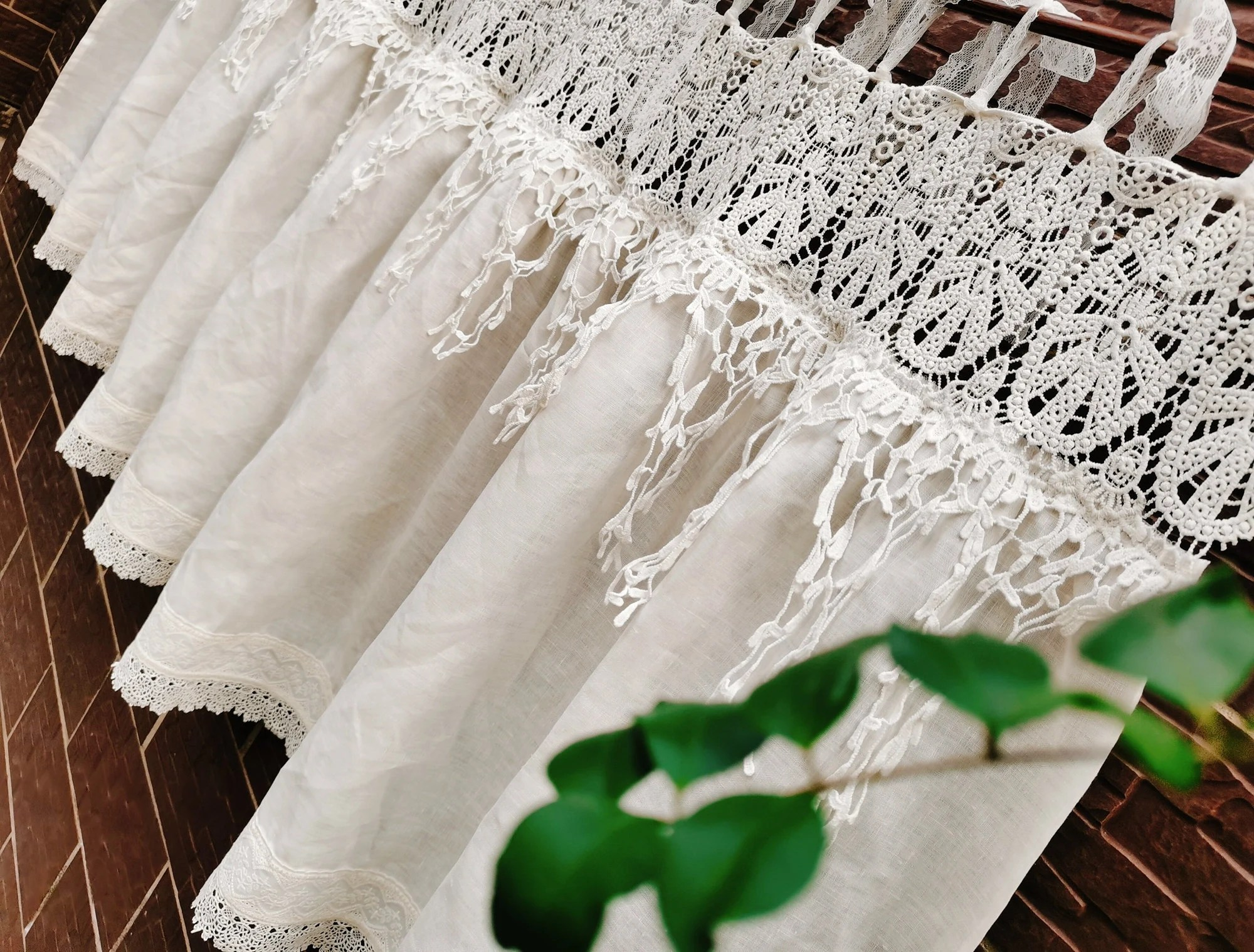 rustic curtains etsy