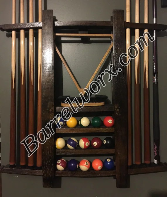 pool cue rack upcycled furniture bourbon gifts rec etsy