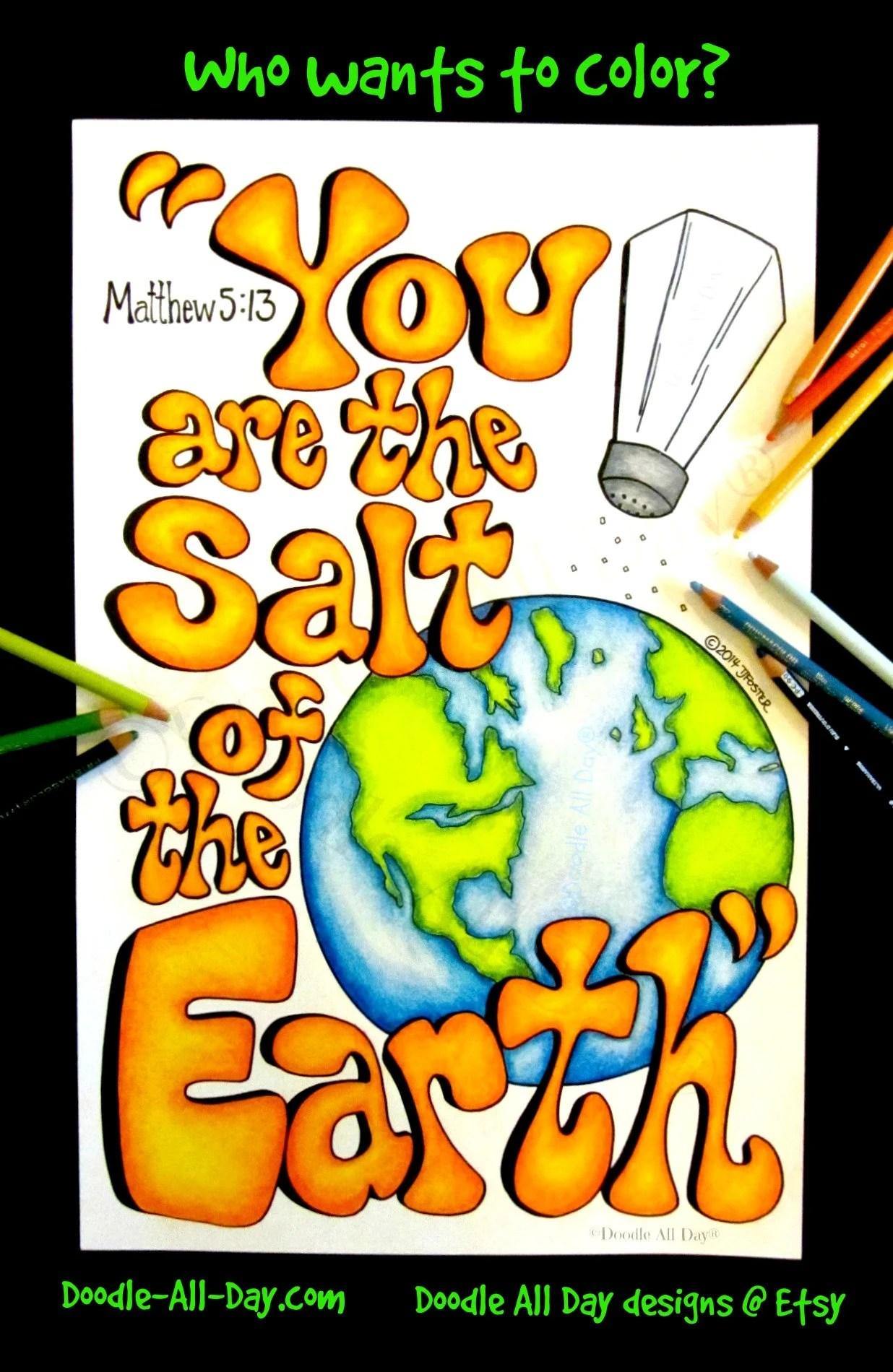 Salt Of The Earth 8 5x11 Printable