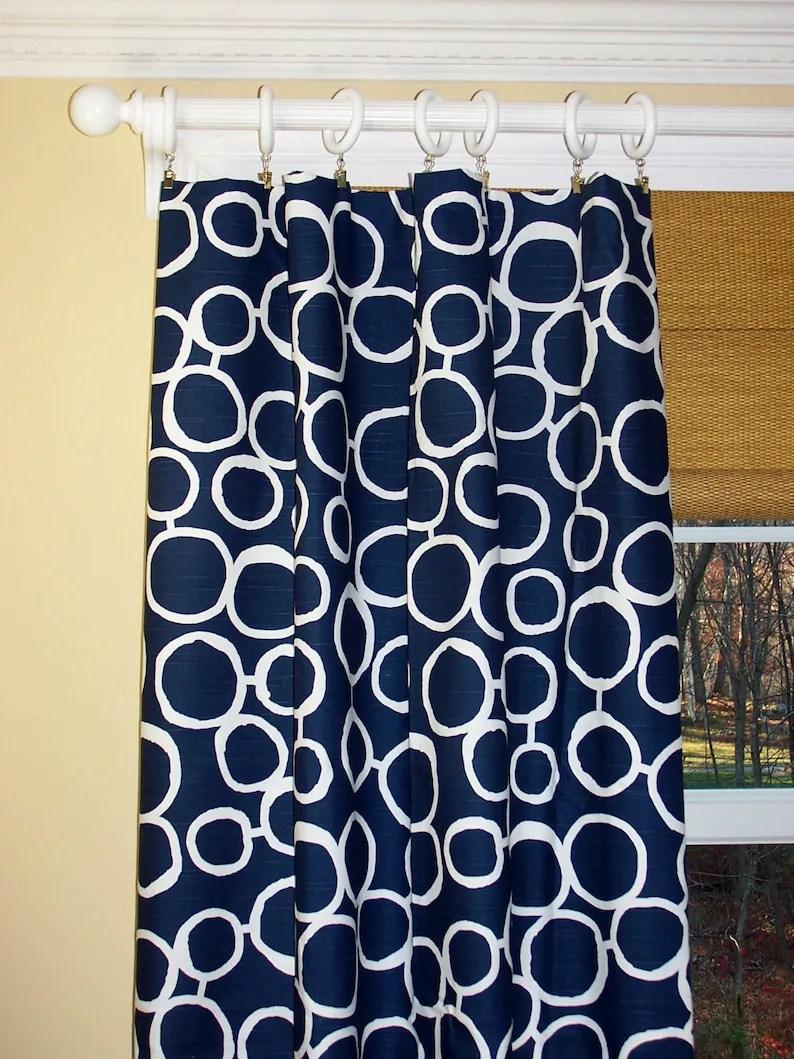 blue curtains window treatments modern