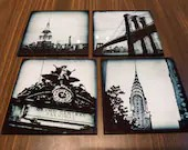 Glass coasters - Set of 4...