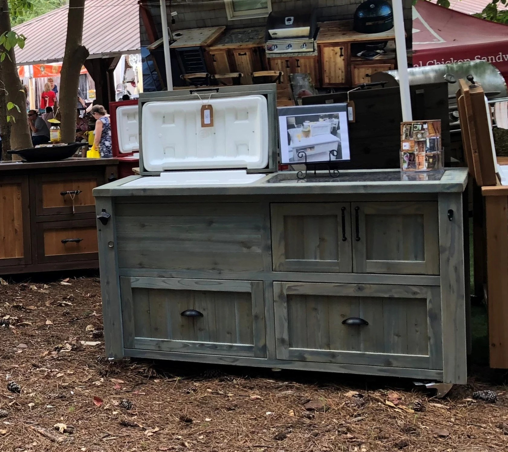 free shipping custom outdoor cabinet rustic cooler bar etsy