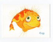 """Postcard """"Fisch&quot..."""