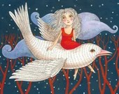 """Postcard """"Bird"""" (Artist: Rita Wolff)"""