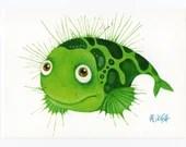"Postcard ""Fish""green"