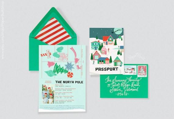 holiday party invitation north pole