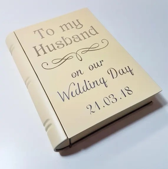 Personalised Wedding Book Box