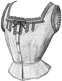 The 1912 corset cover line drawing.
