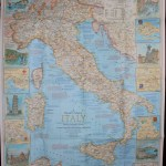 Italy Traveler S Map Vintage Map Italy National Etsy