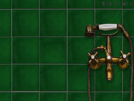 moss green plain tile stickers kitchen bathroom wall tile etsy