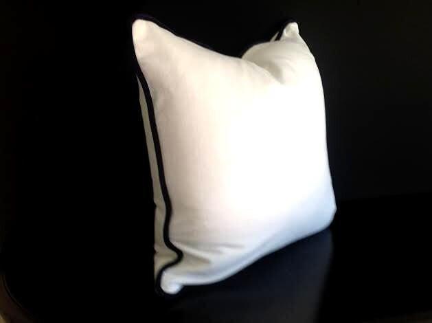 off white velvet throw pillow cover