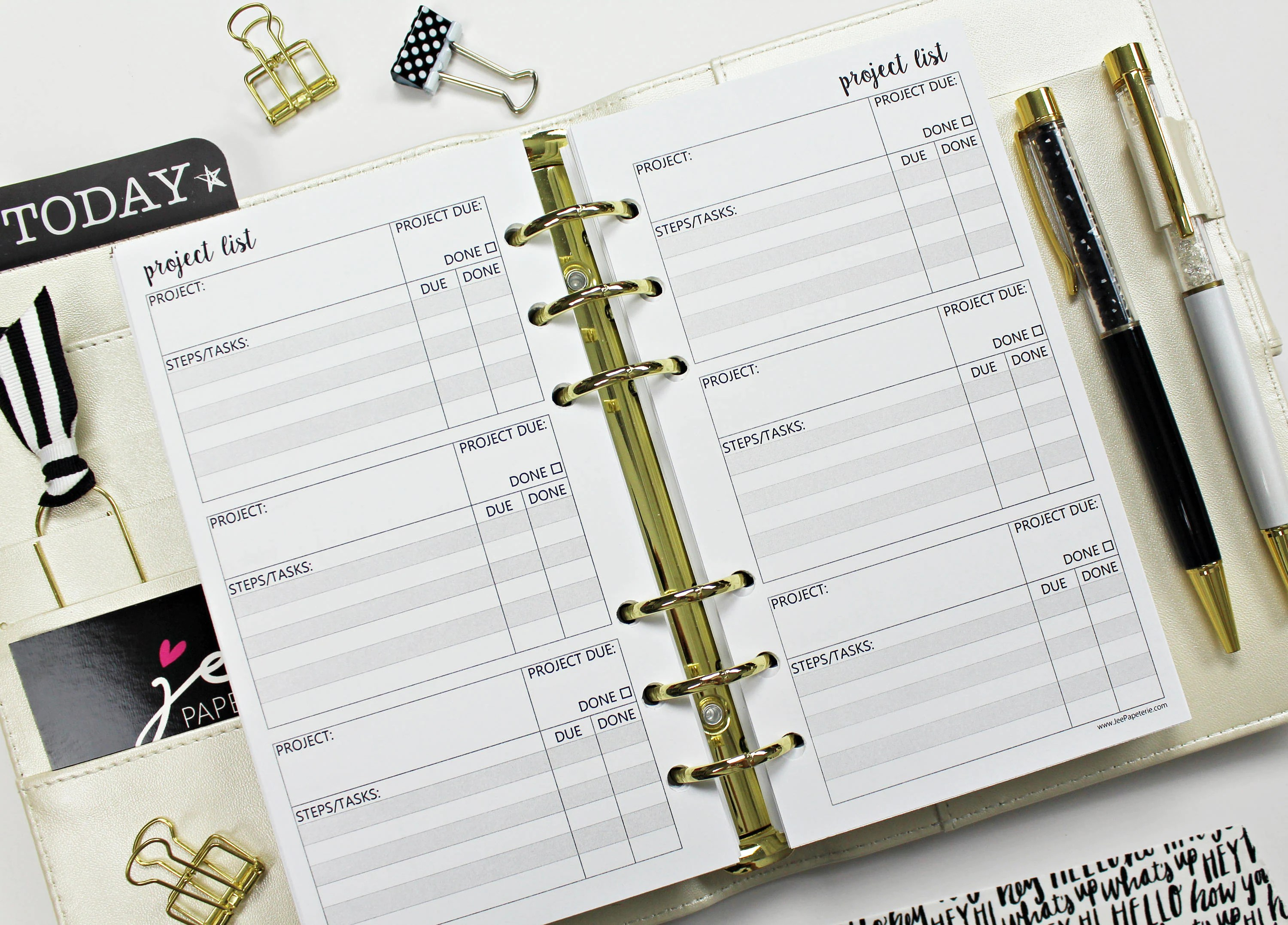 Project Worksheets Inserts A Variety Of Sizes Available