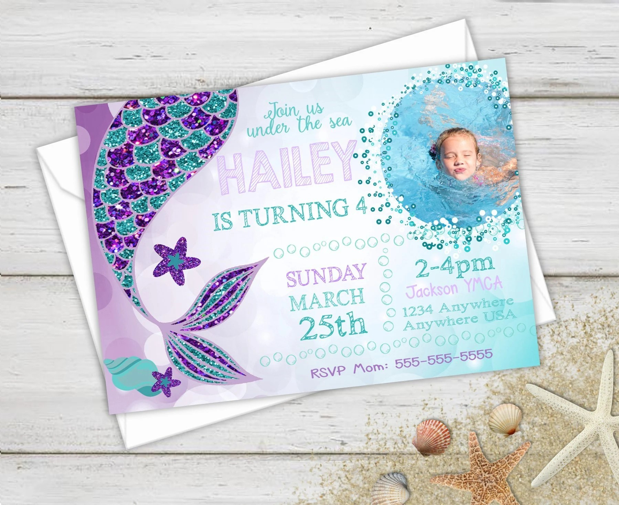mermaid birthday party invitations mermaid invites photo invitation mermaid party birthday invitations mermaid birthday birthday party