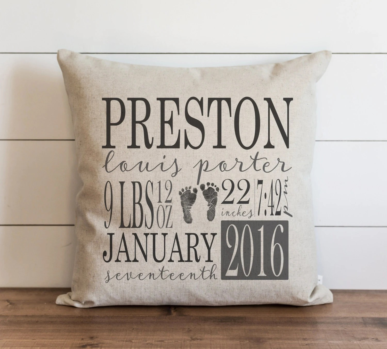 birth announcement pillow cover personalized baby gifts nursery decor new baby gift baby stat pillow baby pillow custom baby gift