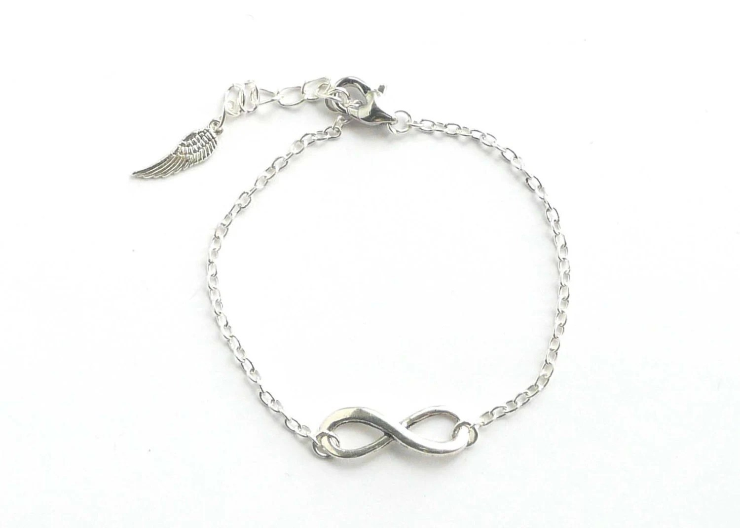 Infinity Bracelet Friendship Bracelet Silver Colored