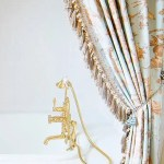 Luxury Custom Bathroom Decor Custom Shower Curtain Bathroom Curtains Bathtub Panels Custom Made Curtains Roman Shades Bathroom Decor