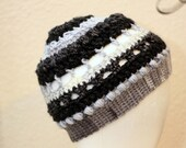 Bun Hat Beanie w/hair tie-smaller child/tween size