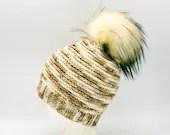 Merino Wool Hive Beanie in 'Toasted Chai' w/Pom Pom