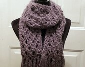 Trellis Scarf in 'Smokey' with Trim