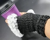 Fur Trimmed Wrist Warmers