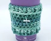 Dragonfly Green Blue Coffee Sweater
