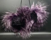 Purple Nene Faux Fur Pom Pom
