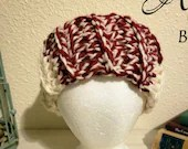 Wide Candy Cane Ear Warmer