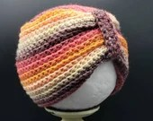 Baby Turban Hat Size 6 - 9 Months in 'Cherry on Top'