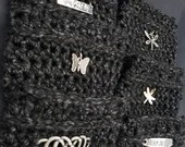 Black Tweed Coffee Sleeves