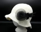 Winter Sun Hat w/Feathered Hat Pin
