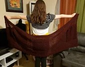 Pocket Shawl in 'Claret'