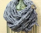 Fashion Infinity Scarf w/tie and button