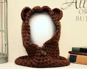 Brown Bear Hooded Cowl - Toddler