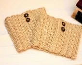 Tan Boot Cuffs w/buttons